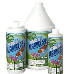 Pond Water Care: Microbelift Algaway 5.4 | Algae Control Learn more about Pond Supplies, Pond Care & Maintenance, Water Care, Algae Control and Pond Maintenance at SunlandWaterGardens.com