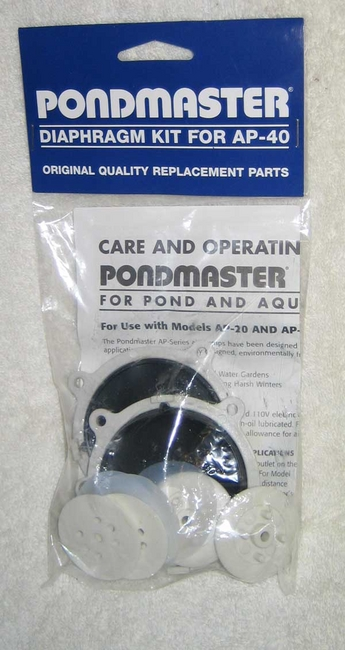 Pond Pumps & Pond Filters: Pondmaster Air Pump Rebuilding Kit - Pond Maintenance Learn more about Pond Supplies, Pumps & Filters, Aeration and Pond Maintenance at SunlandWaterGardens.com