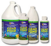 Pond Water Care: Clear Pond Beneficial Bacteria (formerly BSL Liquid)   Bacterial Products Learn more about Pond Supplies, Pond Care & Maintenance, Water Care, Bacterial Products and Pond Maintenance at SunlandWaterGardens.com