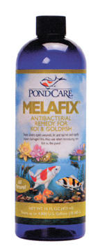 Pond Fish Supplies: Mela Fix | Pond Fish Learn more about Pond Supplies, Fish Care, Fish Health Care, Aquarium Pharmaceuticals and Pond Fish at SunlandWaterGardens.com