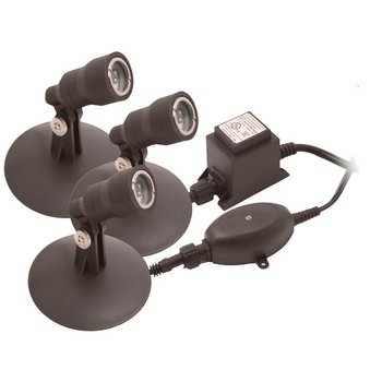 Lighting: Aquascape 3 light x 1w LED Kit - Pond Lights Learn more about Pond Supplies, Lighting, Pond Lighting and Pond Lights at SunlandWaterGardens.com