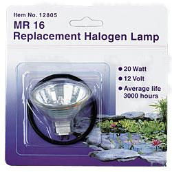 Lighting: Pondmaster Replacement Halogen Bulb 20w w/O Ring - Pond Lights Learn more about Pond Supplies, Lighting, Pond Lighting and Pond Lights at SunlandWaterGardens.com