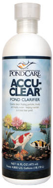 Pond Water Care: Pond Accu-Clear | Pond Clarifiers Learn more about Pond Supplies, Pond Care & Maintenance, Water Care, Pond Clarifiers and Pond Maintenance at SunlandWaterGardens.com