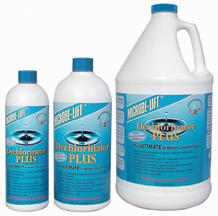 Pond Water Care: Microbe-lift Dechlor Plus | Chlorine/Ammonia Control Learn more about Pond Supplies, Pond Care & Maintenance, Water Care, Chlorine/Ammonia Control and Pond Maintenance at SunlandWaterGardens.com