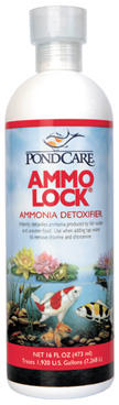 Pond Water Care: PondCare Ammo-Lock | Chlorine/Ammonia Control Learn more about Pond Supplies, Pond Care & Maintenance, Water Care, Chlorine/Ammonia Control and Pond Maintenance at SunlandWaterGardens.com