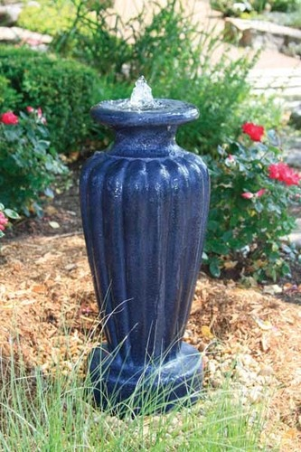 Aquascape Pond Supplies: Classic Greek Urn Fountain w/pump - Large/Gray Slate | Part Number 78045 Learn more about Aquascape Pond Supplies at SunlandWaterGardens.com