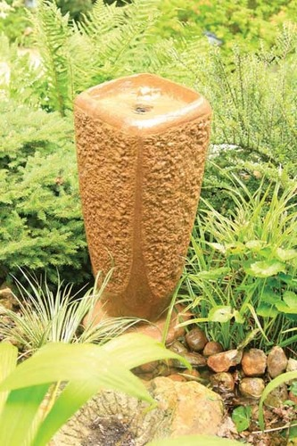 Aquascape Pond Supplies: Textured Ripple Fountain w/pump - Large/Powdered Terra Cotta | Part Number 78041 Learn more about Aquascape Pond Supplies at SunlandWaterGardens.com