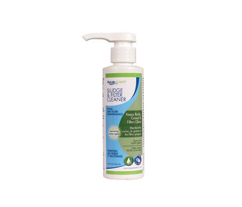 Aquascape Pond Supplies: Sludge & Filter Cleaner/Liquid - 250 ml/8.5 oz | Part Number 98889 Learn more about Aquascape Pond Supplies at SunlandWaterGardens.com