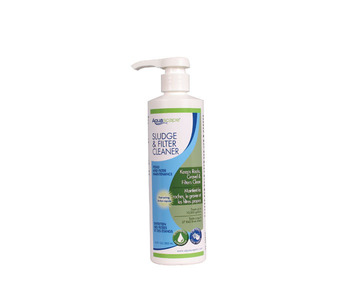Aquascape Pond Supplies: Sludge & Filter Cleaner/Liquid - 500 ml/16.9 oz | Part Number 98890 Learn more about Aquascape Pond Supplies at SunlandWaterGardens.com