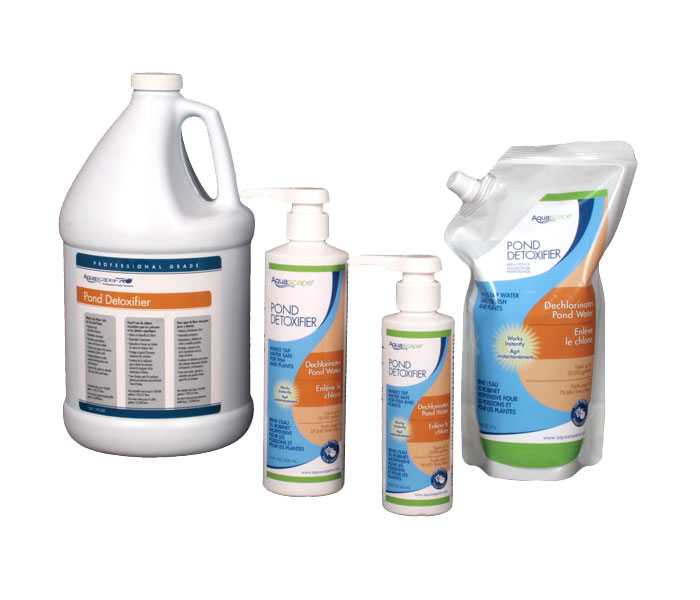 Aquascape Pond Supplies: Pond Detoxifier, 1 Liter Refill Pouch | Part Number 40005 Learn more about Aquascape Pond Supplies at SunlandWaterGardens.com