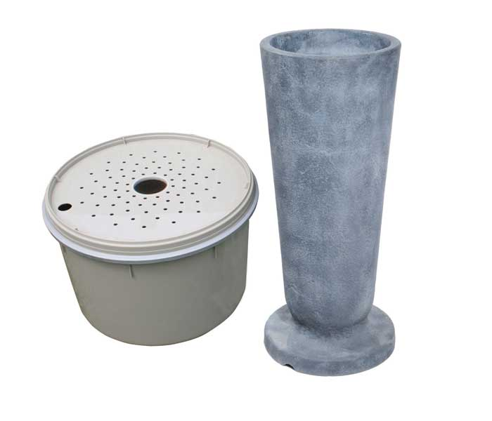 Aquascape Pond Supplies: Modern Classic Fountain Kit - XLg/Gray Slate   Part Number 78055 Learn more about Aquascape Pond Supplies at SunlandWaterGardens.com