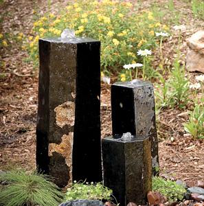 Aquascape Pond Supplies: 3 Semi-Polished Stone Basalt Columns - Sm 12