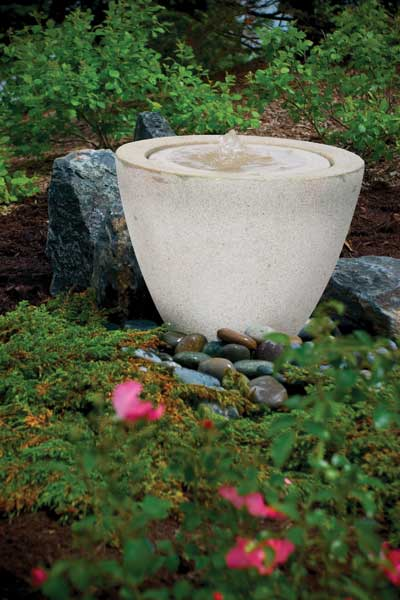 Aquascape Pond Supplies: Granite Transition Garden Fountain Small | Part Number 78028 Learn more about Aquascape Pond Supplies at SunlandWaterGardens.com