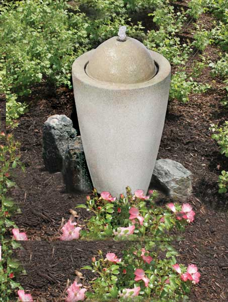 Aquascape Pond Supplies: Granite Transition Garden Fountain Medium   Part Number 78029 Learn more about Aquascape Pond Supplies at SunlandWaterGardens.com
